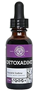 Global Healing Center Detoxadine Premium Nano-Colloidal Nascent Iodine Supplement, Certified Organic 1,950 mcg (1 Ounce)