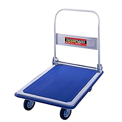 """1f0b65600e44 Folding Platform Cart from Shoulder Dolly – Push Moving Dolly or Hand Truck  – Holds 330 Lbs. – Office or Home – 18""""x30"""" Base – Heavy Duty - M4100"""