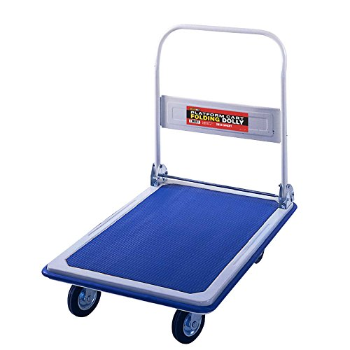 "Folding Platform Cart from Shoulder Dolly –  Push Moving Dolly or Hand Truck – Holds 330 Lbs. – Office or Home – 18""x30"" Base – Heavy Duty - M4100 (Mover Folding Hand Truck)"