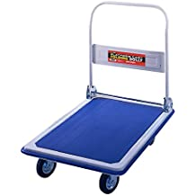 "Folding Platform Cart from Shoulder Dolly –  Push Moving Dolly or Hand Truck – Holds 330 Lbs. – Office or Home – 18""x30"" Base – Heavy Duty - M4100"