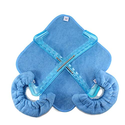CRS Cross Skate Guards, Soakers & Towel Gift Pack - Figure Skating Hard and Soft Skate Blade Covers (Bracket Blue, Large) (Hockey Skates Soft)