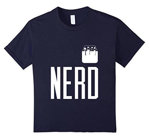 Cute Girl Geek Costume (Kids Halloween Costume Nerd Shirt Cute Funny Adult & Kid Geeks 12 Navy)