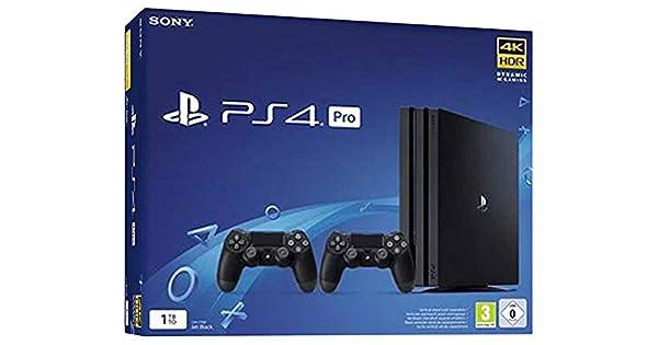 PS4 Pro 1TB Gamma + 2 DS4 V2 [Importación italiana]: Sony: Amazon.es: Videojuegos