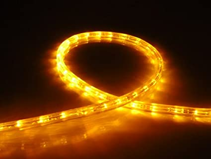 Amazon amber led flat rope light kit for 120v christmas amber led flat rope light kit for 120v christmas lighting outdoor rope lighting aloadofball Image collections