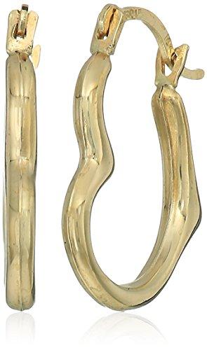 10k Gold Polished Open Heart Hoop Earrings (Open Earrings Polished Heart)