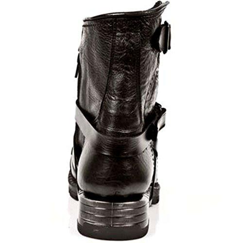 Newrock New Rock Bottes Style M.mr004 S1 Noir Homme Talons Acier