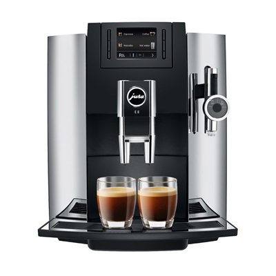 Jura E8 Automatic Coffee Machine, Chrome
