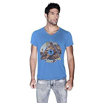Creo China T-Shirt For Men - L, Blue