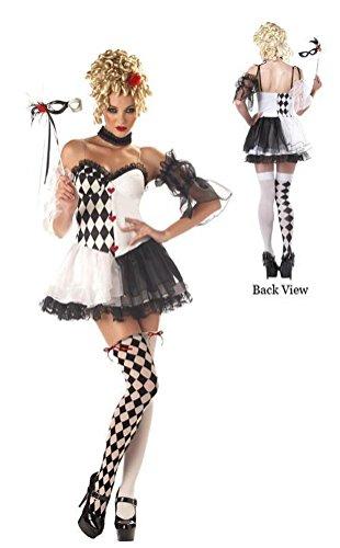 [Le Belle Harlequin Costume - Large - Dress Size 10-12] (Le Belle Harlequin Adult Costumes)