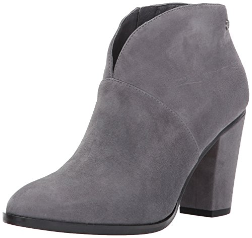 206 Collective Women's Everett Suede High Heel Ankle Bootie, Charcoal Gray, 11 B US