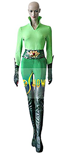 Mtxc Women's Batman & Robin Cosplay Costume Poison Ivy Full Set Size Small Green (Poison Ivy Costume Batman)