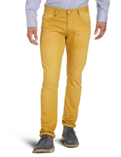 JONES Mustard Tim hombre Vaqueros amp; JACK Marrón Original para Honey skinny vPq5UwE