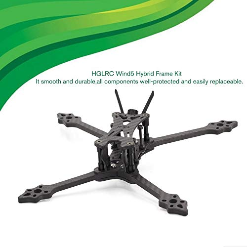 HGLRC Wind 5 Hybrid FPV Racing Drone Frame Kit for 5'' Propellers Quadcopter by Wikiwand (Image #1)