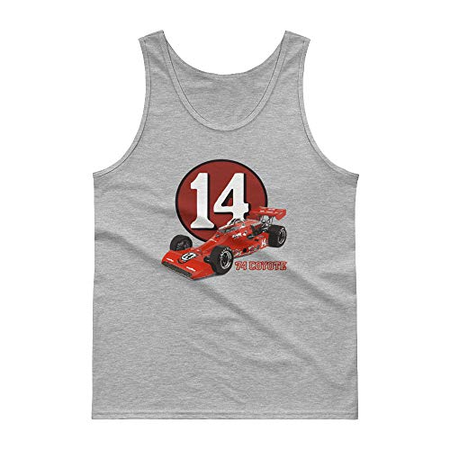 - AJ Foyt 1974 Indy 500 Pole Winner Coyote Race Car Tank top Sport Grey