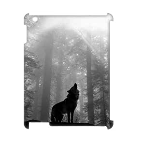 Wolf Unique Design 3D Cover Case for Ipad2,3,4,custom cover case ygtg601587