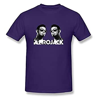 Jiaso Men's Funny Afrojack DJ Tech House Remix Shirt Purple XX-Large
