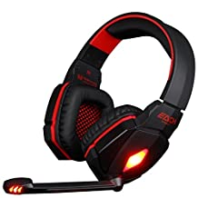 VersionTech Red EACH G4000 Professional 3.5mm PC Gaming Stereo Noise Cancelling Headset Headphone Earphones with Volume Control Microphone HiFi Driver For Laptop Computer(No Supporting Xbox One 360, PS4 PS3)