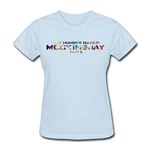 - Tea Time Women's Tshirts Pop The Hunger Games Mockingjay Part 2 SkyBlue Size XS