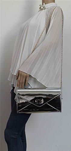 Patent SwankySwans Silver Womens Metallic Clutch Camilla OxqqpAntwB