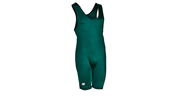 70-85 LBS Brute Mens Lycra High Cut Wrestling Singlet,Teal,Youth Large