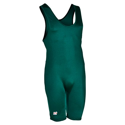 Brute Men's Lycra High Cut Wrestling Singlet,Teal,Youth Small (40-55 LBS)