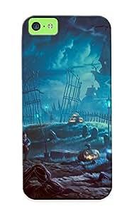 Fashion EVWFR0eMUBL Case Cover Series For Iphone 6 plus (5.5)(art Night Trees Halloween Pumpkin Vampire )