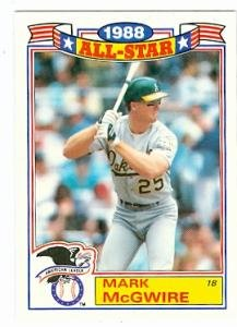 Amazoncom Mark Mcgwire Baseball Card Oakland Athletics 1988