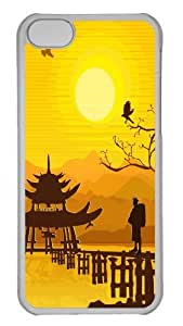 Hot iPhone 5C Customized Unique Print Design Oriental Background New Fashion PC Transparent iPhone 5C Cases