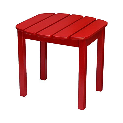 International Concepts T-92248 Adirondack Sidetable, Red - Red Adirondack End Table