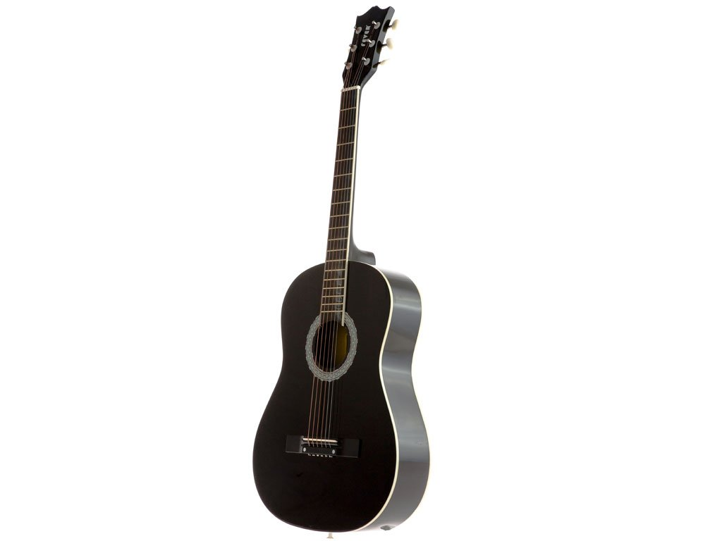 Fever フィーバー FV-030-BK 3/4 38-Inch アコースティックギター, Black アコースティックギター アコギ ギター (並行輸入) B008L5RNBK
