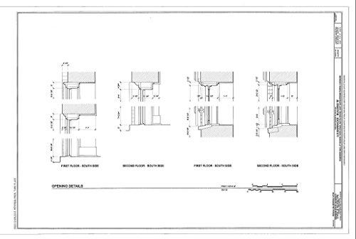 Historic Pictoric Structural Drawing HABS LA,17-BATRO,8B- (Sheet 7 of 7) - U.S. Barracks, Building B, Riverside Mall at Spanish Town Road, Baton Rouge, East Baton Rouge Parish, LA 66in x ()