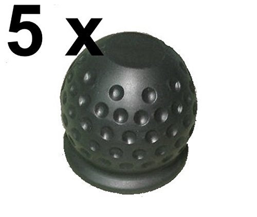 5 x Tapa protectora para bola de remolque –  Negro –  Bola Tapa FKAnhängerteile