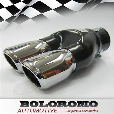 Boloromo 324870384 Twin Exhaust Performance Sport Muffler Trim End Pipe Stainless Steel Chrome Automarket22