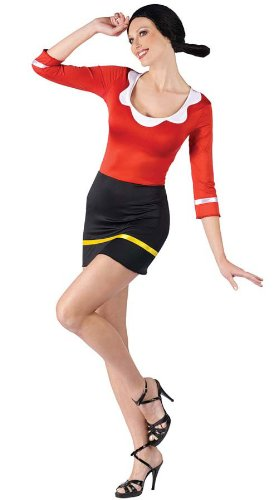 Olive Oyl Costume - Small/Medium - Dress Size 2-8 (Olive Oyl Fancy Dress)