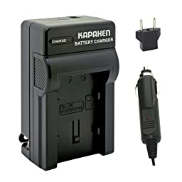 Kapaxen Rapid Battery Charger Kit for BN-VG107U / BN-VG108U / BN-VG114U / BN-VG121U / BN-VG138U Battery (AA-VG1U) for JVC Select Camcorders