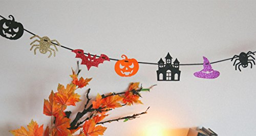 College Diy Halloween Costumes (DECOLUV DIY Party Banner - DIY Bunting Banner Decoration Party Garland (Halloween))