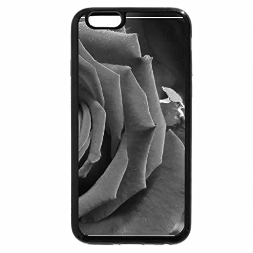 iPhone 6S Plus Case, iPhone 6 Plus Case (Black & White) - Red Rose