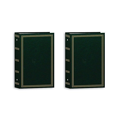 3-Ring Photo Album 504 Pockets Hold 4x6 Photos, Hunter Green (Hunter Green Bundle)