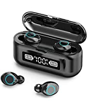 VIRE Wireless Noise Cancelling Earbuds, Built In Microphone, Auto-Connects To Devices, Great For Sports And Work From Home, Bluetooth, Supports Android And iOS Devices, Works As Powerbank (Black)