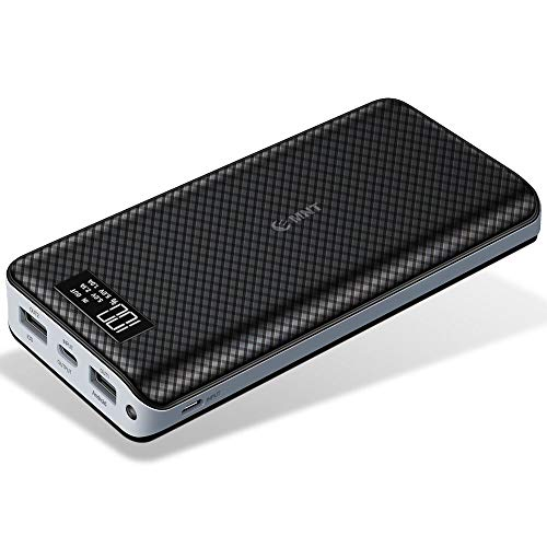 Power Bank 24000mAh High Capacity Portable Phone Charger with 2.4A Output Port, 2A Input Port, LED Indicator and 2 Quick Charging Ports Compatible for Smart Phones, Tablets and Other Devices-Black