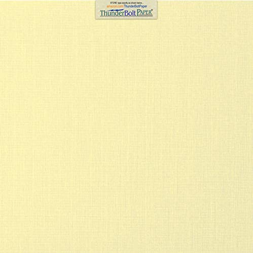 25 Ivory Linen 80# Cover Paper Sheets - 12