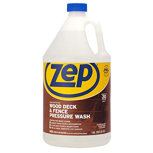 Zep Wood Deck and Fence Pressure Wash Cleaner Concentrate 128 Ounce ZUDFW128
