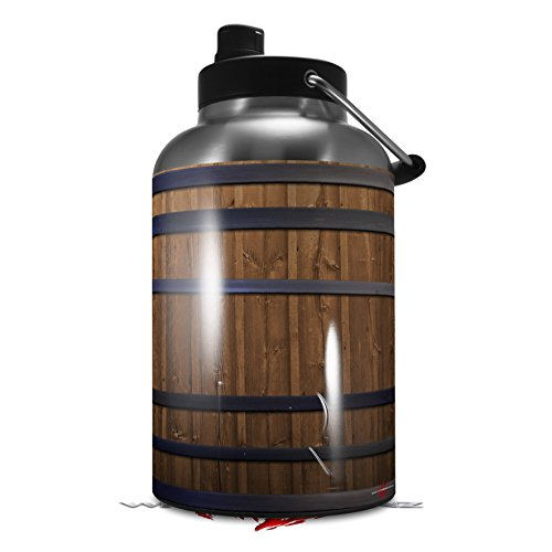 Skin Decal Wrap for 2017 RTIC One Gallon Jug Wooden Barrel (Jug NOT INCLUDED) by WraptorSkinz