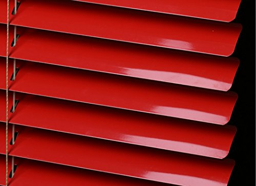 Red Mini Blinds - PASSENGER PIGEON Horizontal Window Blinds, Superior Blackout Light Filter Aluminum Blinds Custom-Made Water Rust Proof Fire Resistant Mini Blinds, 1 Inch Slats, 24