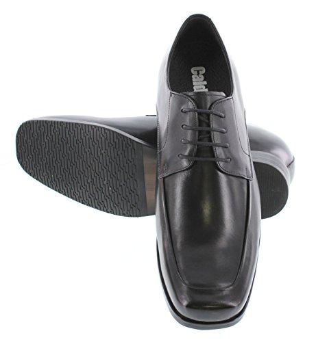 Calto Y3036-3 Pollici Taller - Scarpe Rialzanti Con Altezza Aumentata - Scarpe Eleganti Stringate Nere