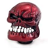 Thruifo Skull Gear Stick Shift Knob, Big Teeth Devil Head Shape MT Car