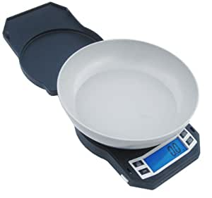 American Weigh Scales LB-3000 Compact Digital Scale with Removable Bowl, 3000 by 0.1 G