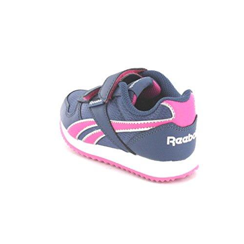 Reebok Royal CL Jogger 2 V Niñas Zapatillas Calzado Deportivo Azul/Rosa, Tamaño:EU/31.5 - UK/13.5K - US/1 - CM/20