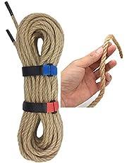 8mm Thick Jute Twine, Heavy Duty Jute Rope, Natural Hemp Rope for Cat Scratch Post, DIY Arts Crafts, Gardening,Bundling