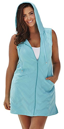 swimsuitsforall Womens Seamint Terry Hoodie product image